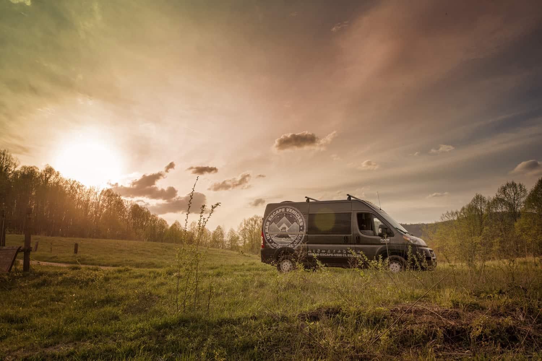 Urban Escape Vehicles van at sunset